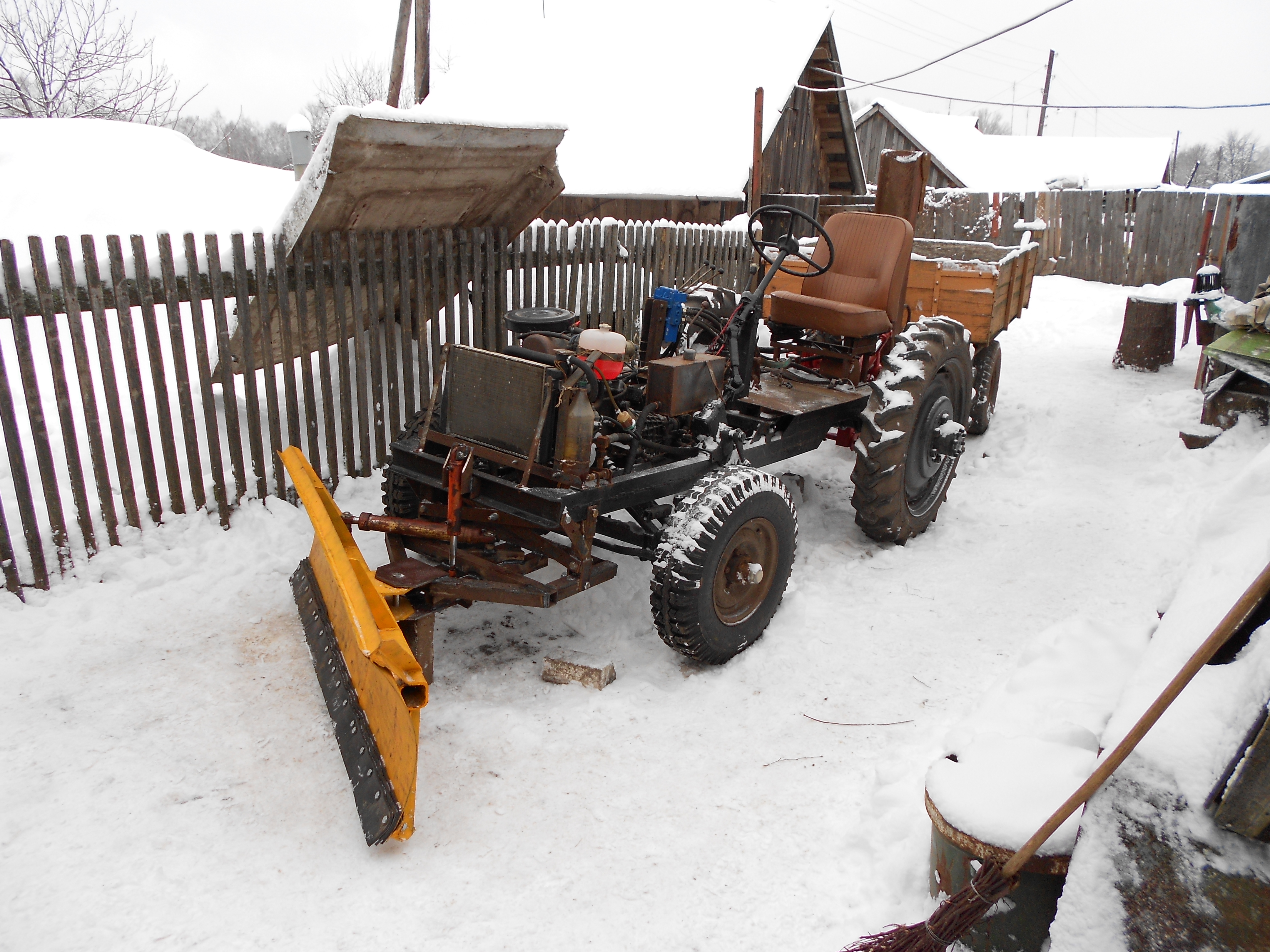 Как сделать лопату для трактора