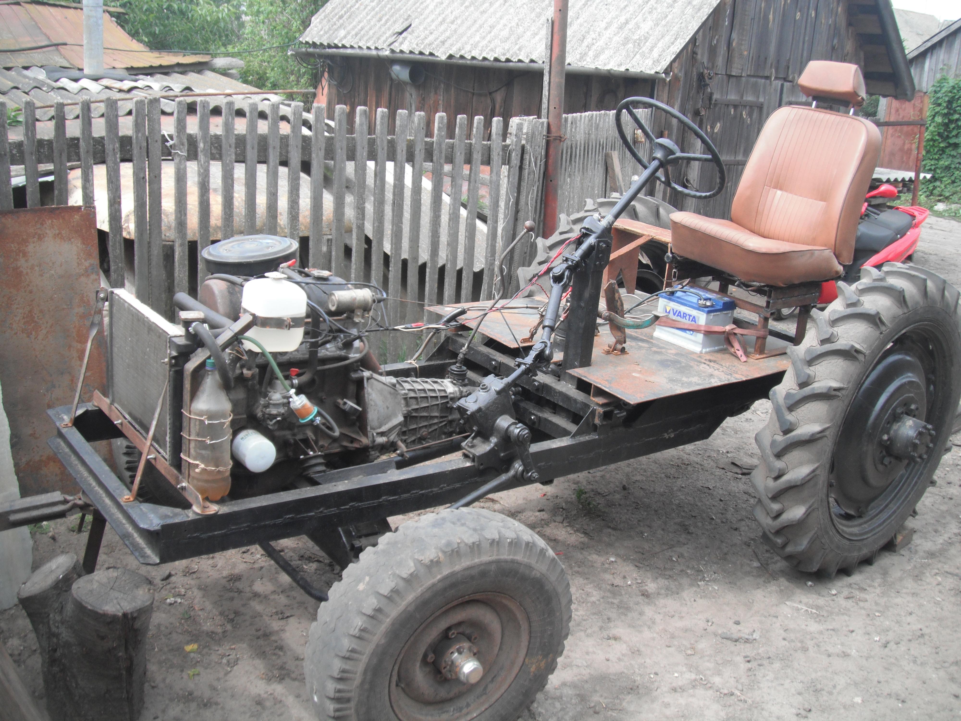 Сделать своими руками трактор фото
