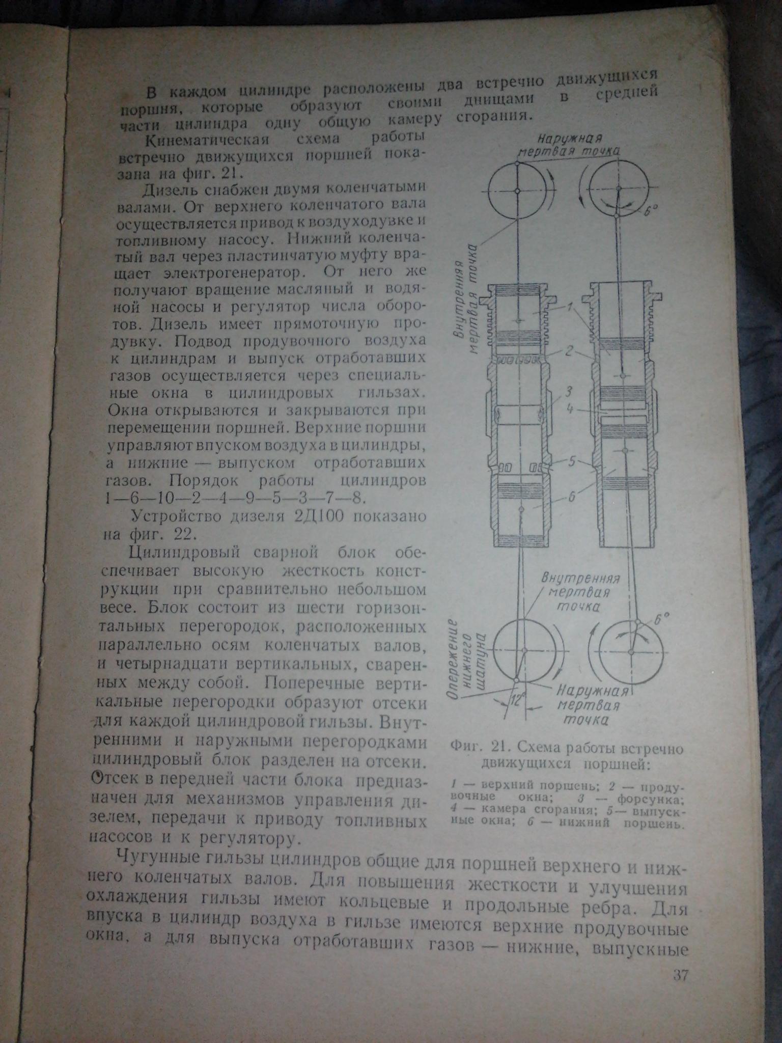 оппозитник двигунів для танків. схема