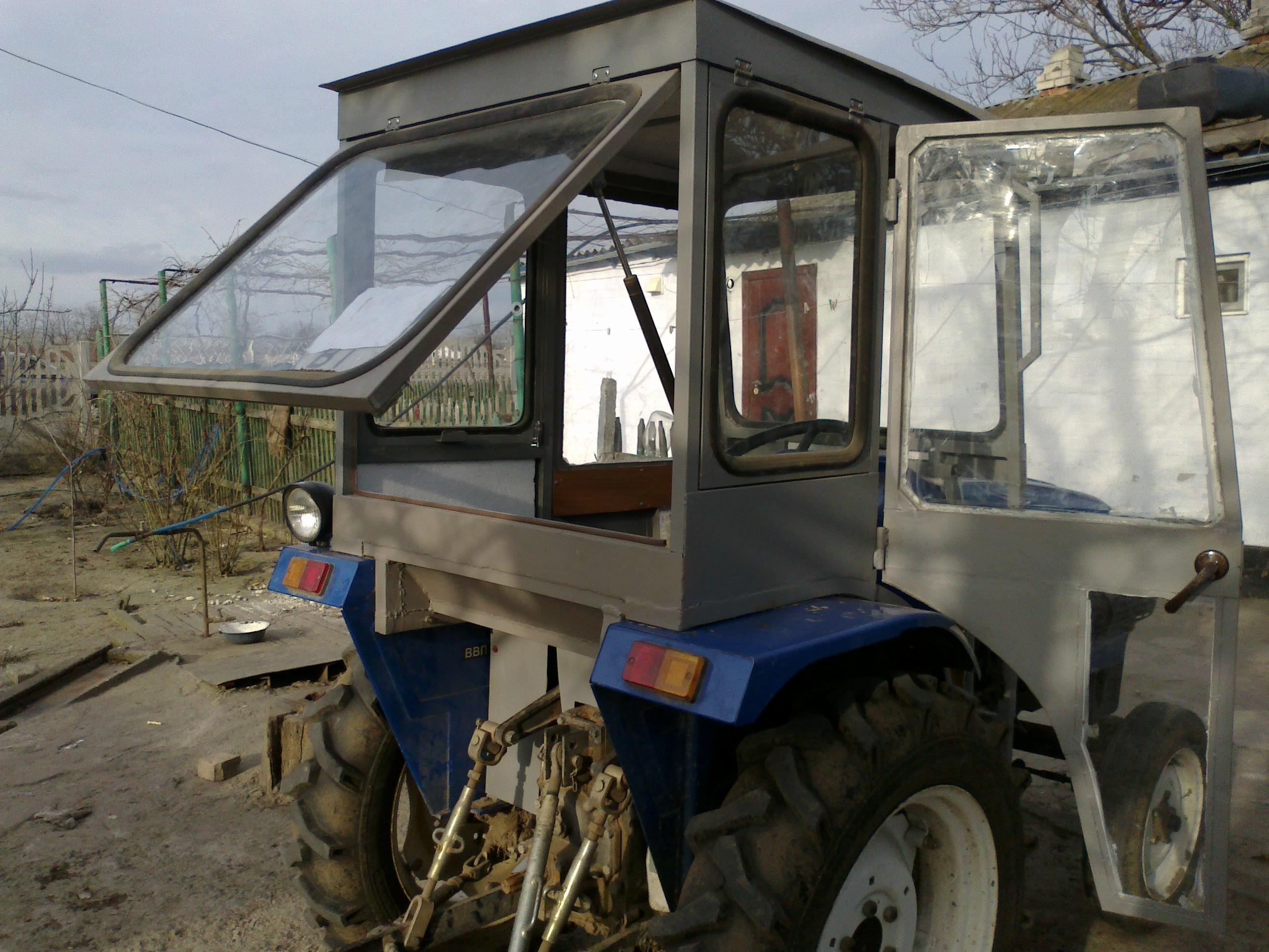 самодельные кабины для тракторов с фото змеином была пресной