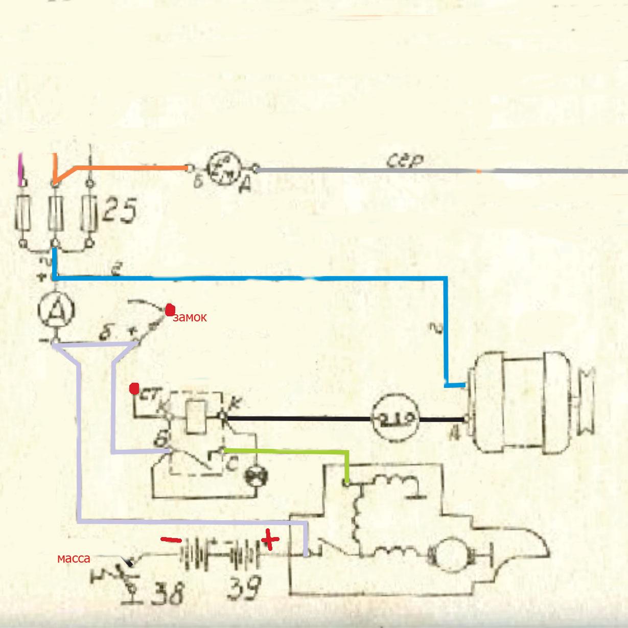 Схема соединения реле поворотов