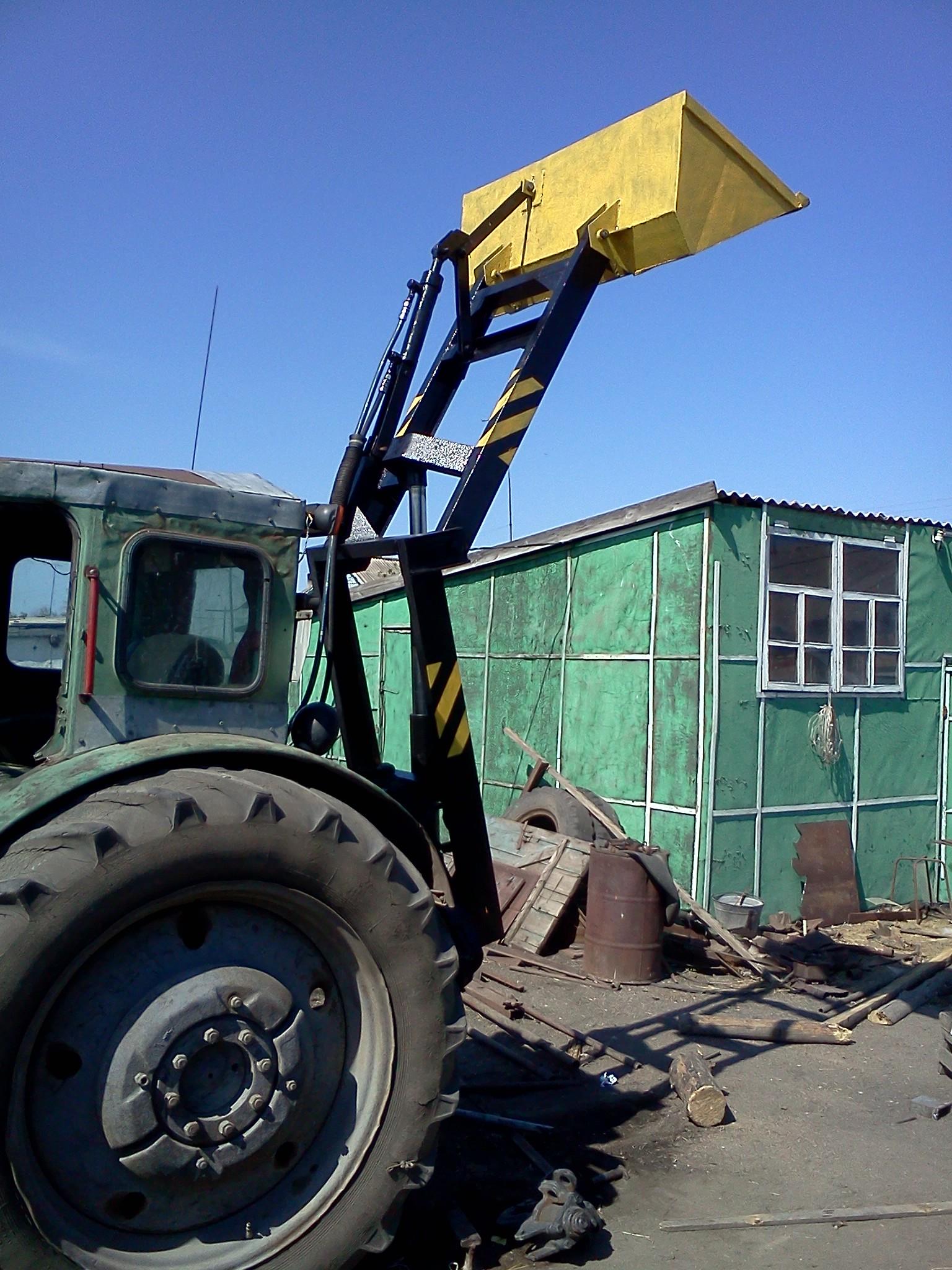 Как сделать на трактор самодельный кун на трактор