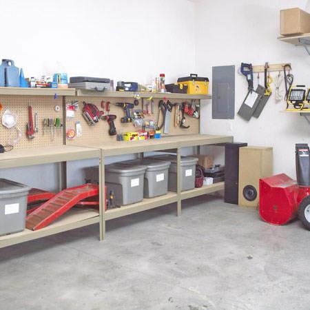 КАК СДЕЛАТЬ - Полки в гараже.  Самодельные полки для гаража или.