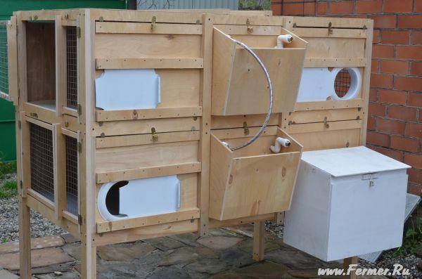 Навесные клетки для кроликов