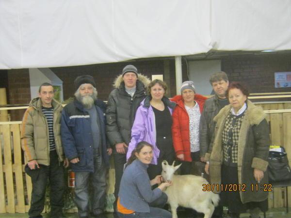 Посетители выставки и козоводы