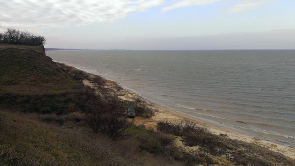 Зимнее Азовское море около моего будущего дома