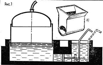 Ферментатор для получения биогаза.