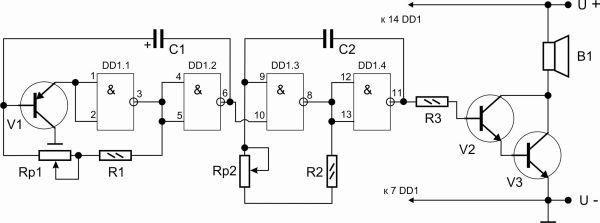 Схема генератора крыс