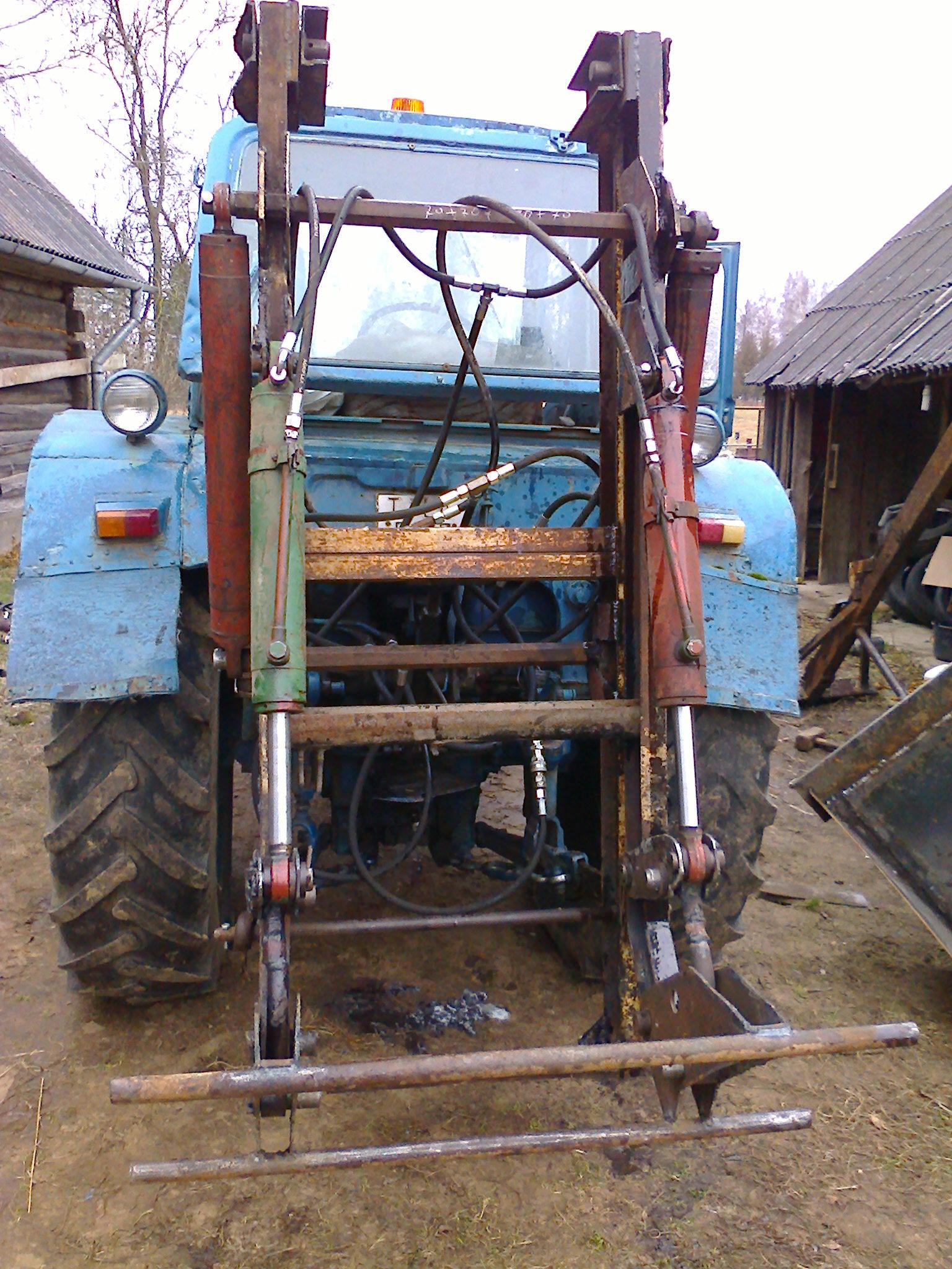 Самодельный погрузчик на трактор на заднюю навеску