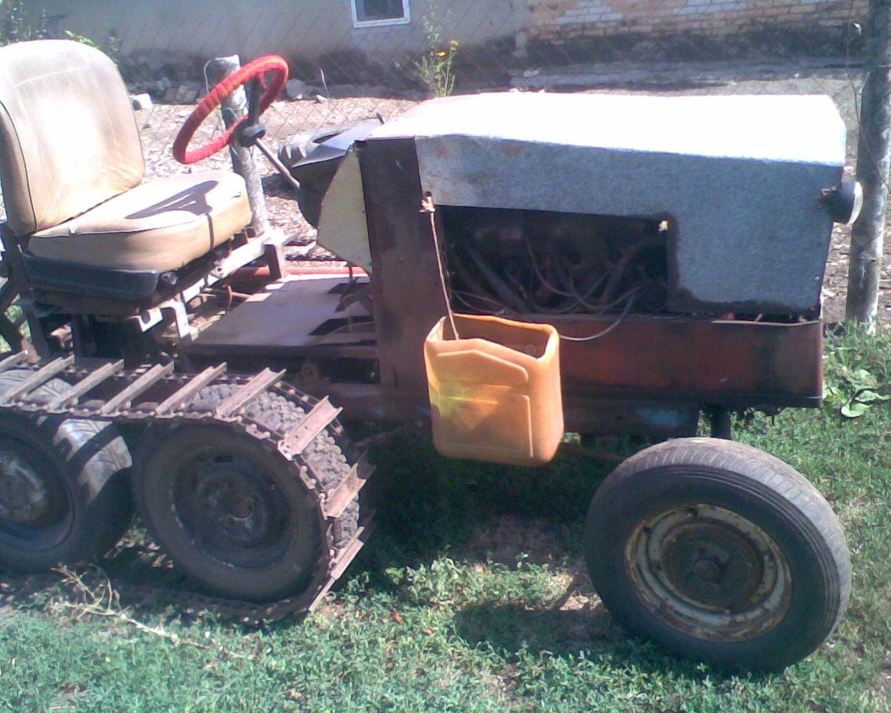 Гусеничный мини-трактор своими руками 68