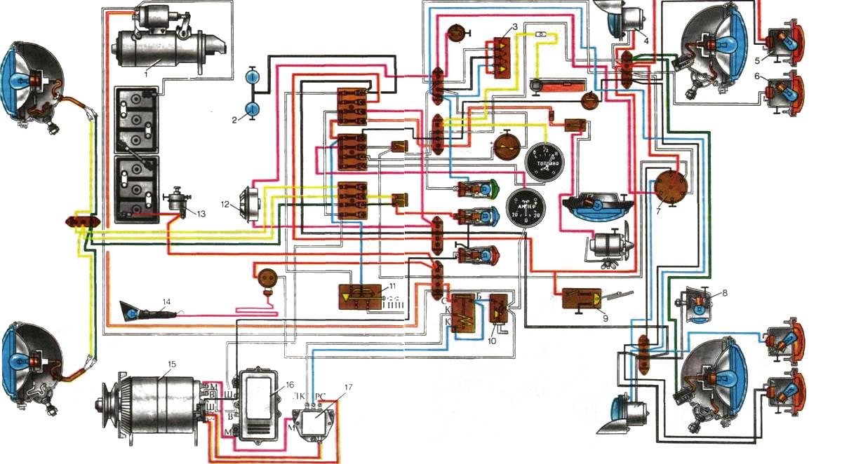 Трактор мтз 80 схема проводки