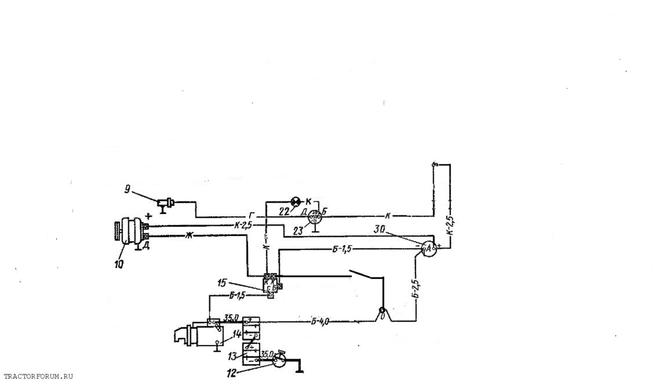 Схема переключений передач на трактор т 40