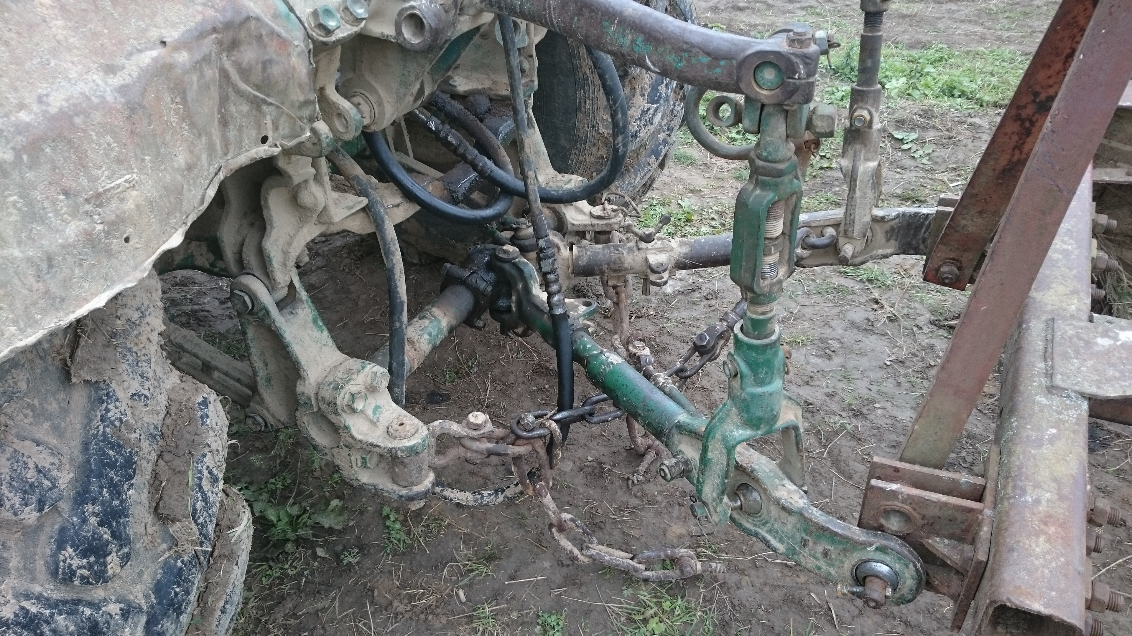 схема навески трактора трех и двух точечная