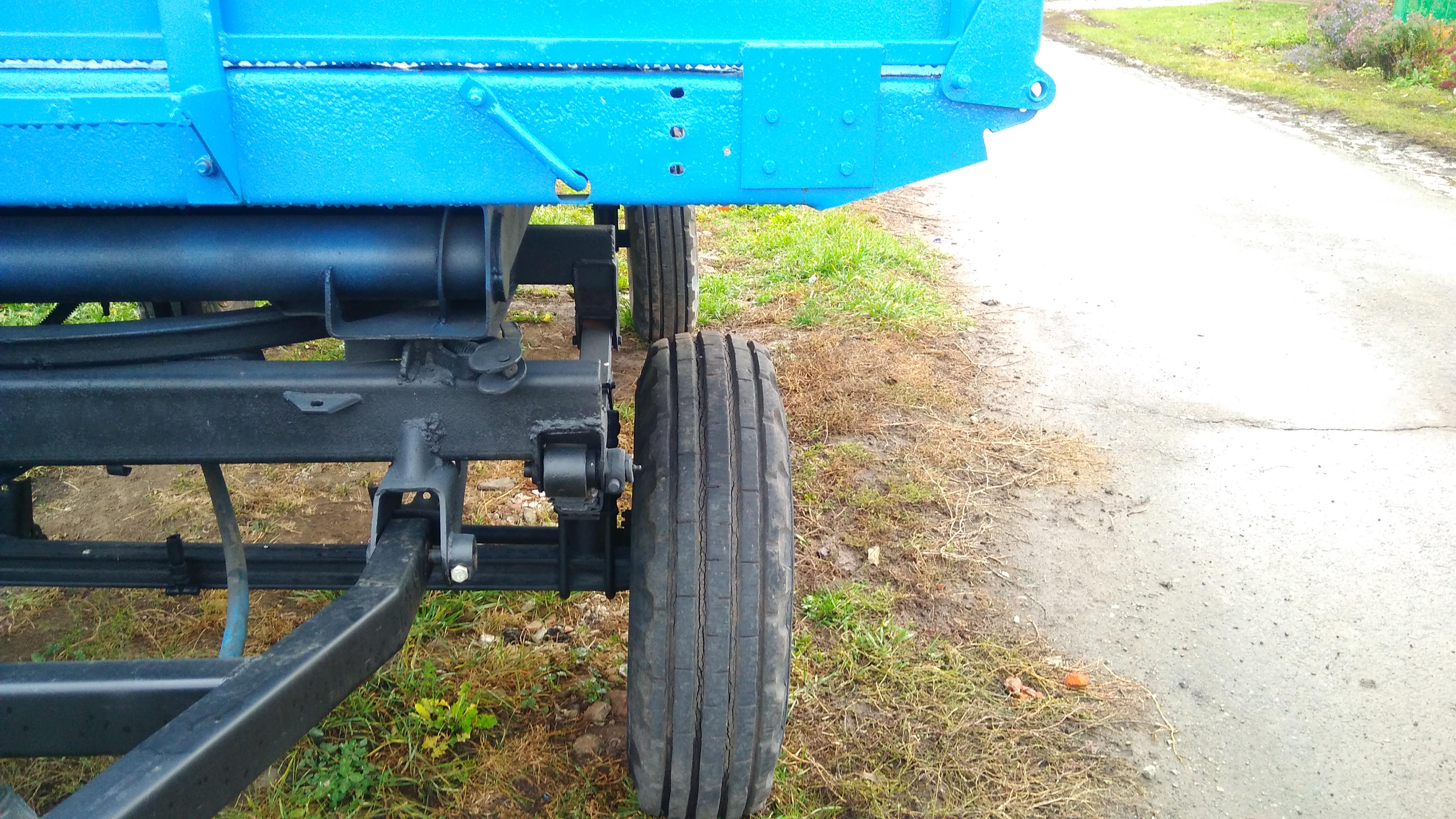 Поворотный механизм тракторной телеги фото