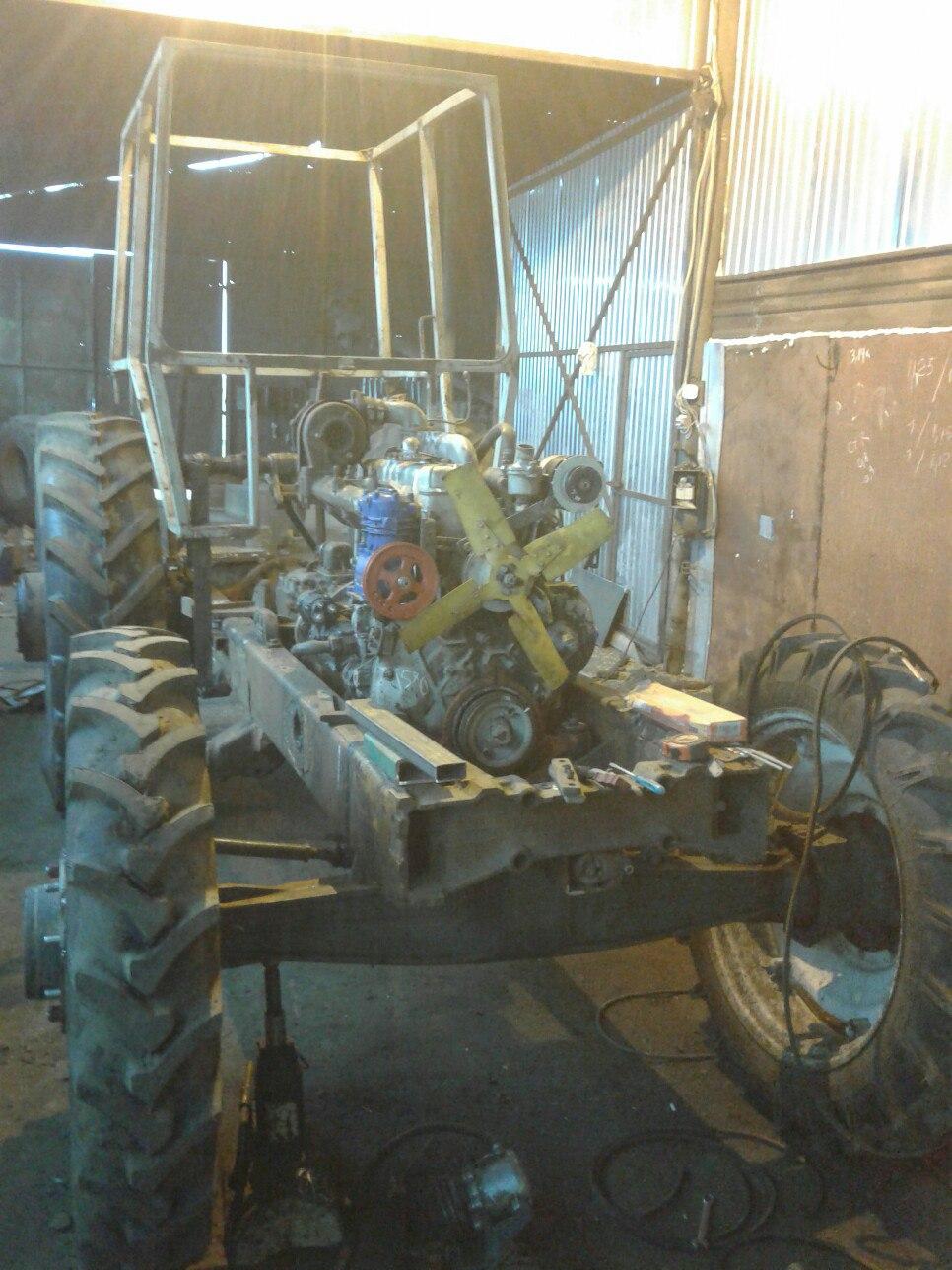 это самодельные трактора с двигателями ямз фото училища попал закавказье