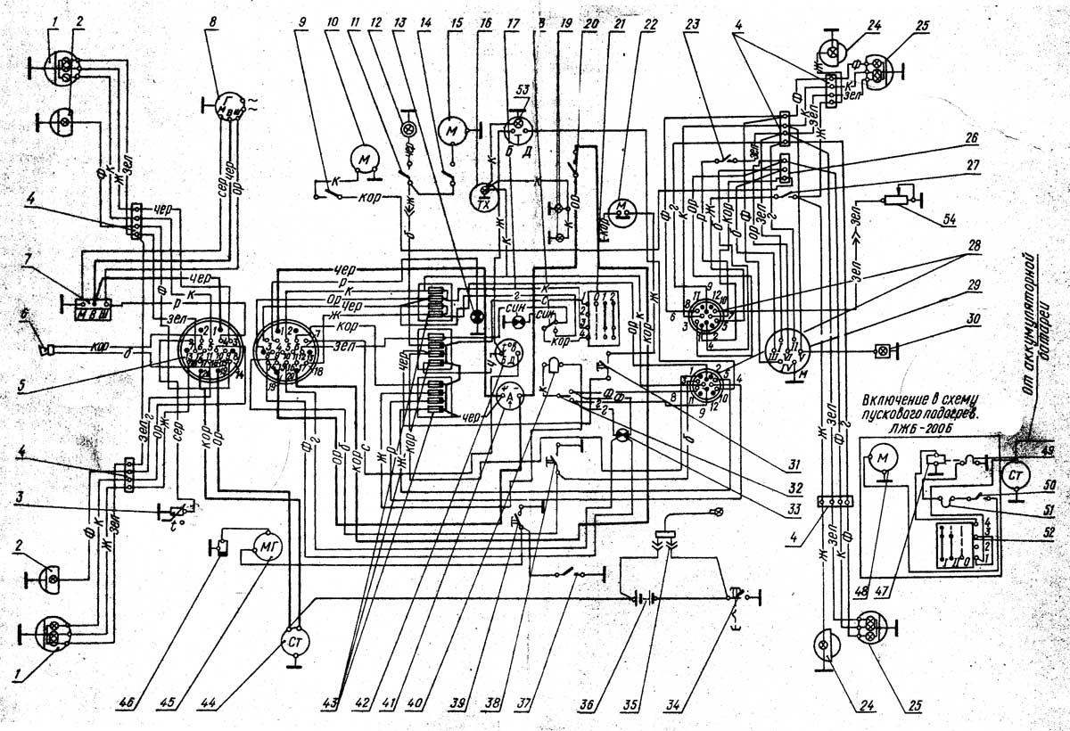 схема подключения электрического тахометра на мтз-82