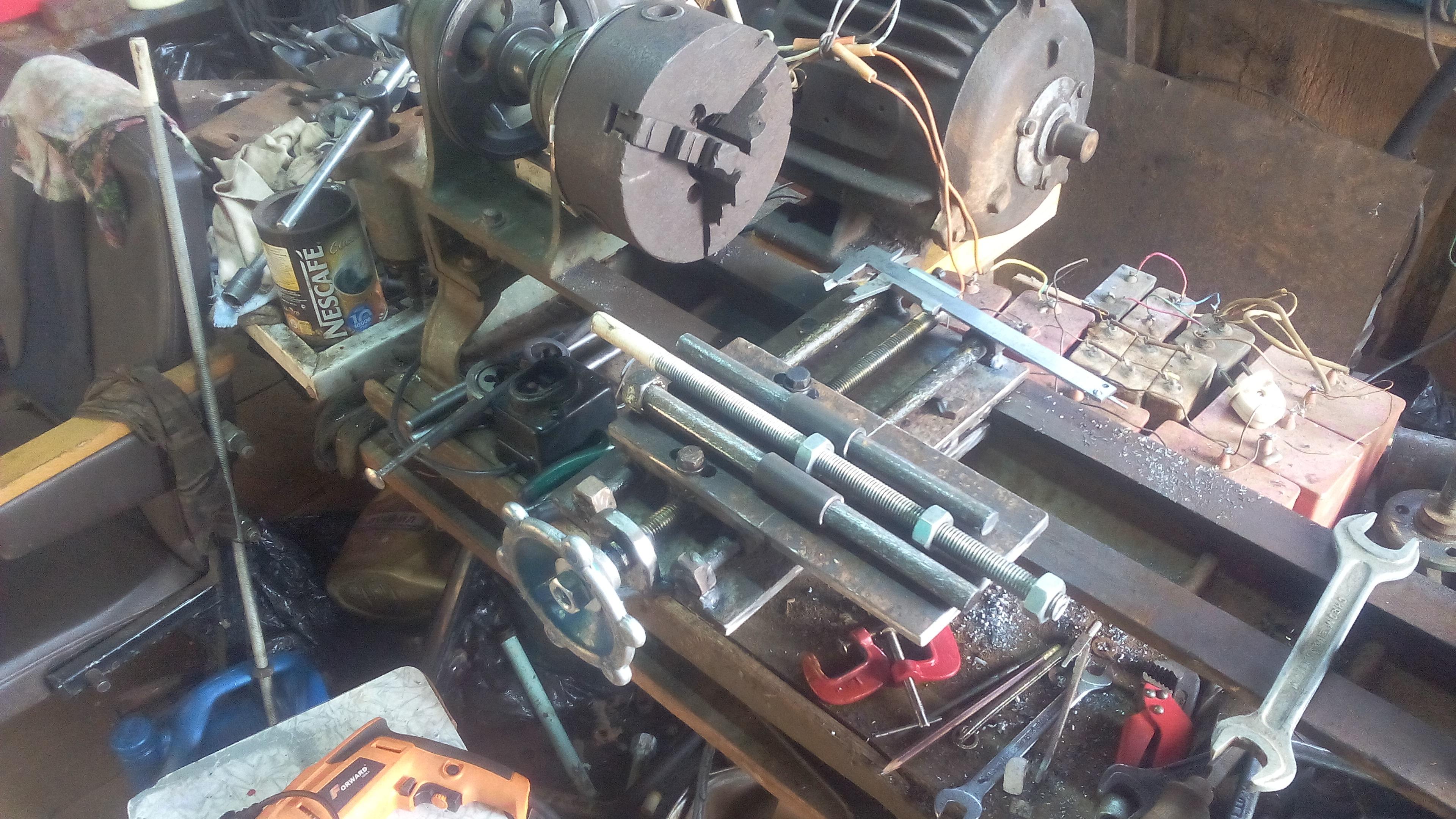 Как сделать самодельный токарный станок по металлу фото 8