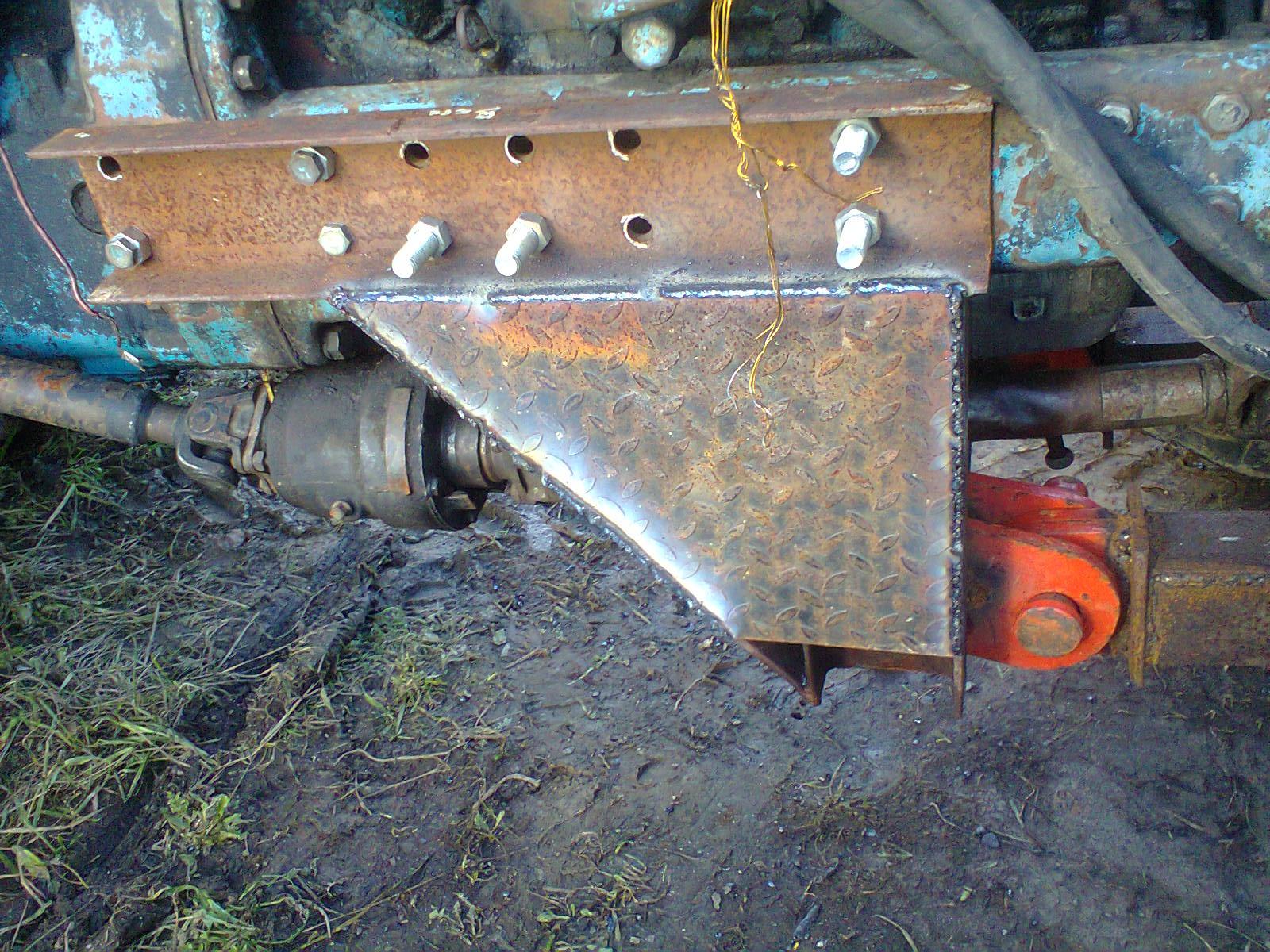 Как сделать отвал для трактора мтз 82