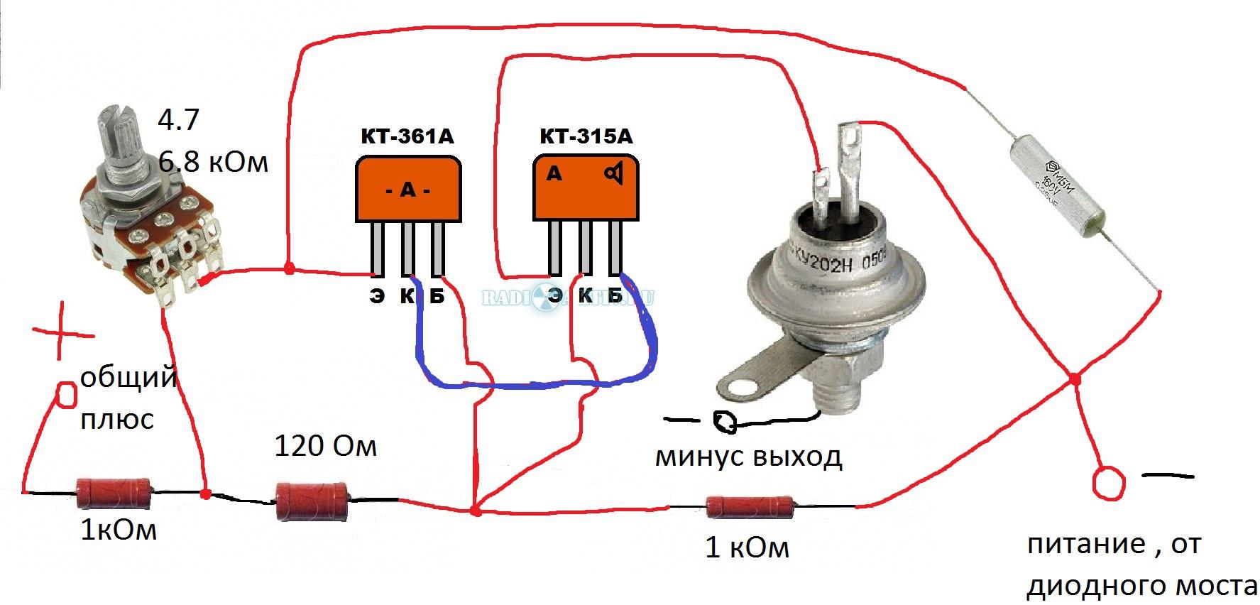 Зарядное устройство из диодного моста генератора своими руками